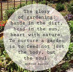 Alfred Austin on gardening...