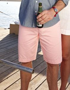 """nothing like a pair of vintage chino shorts and a beer to say """"summer day done right"""""""