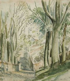 View Lane near Lewes By Eric Ravilious; Access more artwork lots and estimated & realized auction prices on MutualArt. Landscape Paintings, Tree Paintings, Illustration Art, Illustrations, Print Artist, Religious Art, Art Auction, Exterior Paint, Watercolor And Ink