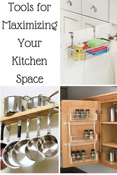 Tools for Maximizing Your Kitchen Space. Great tips for small kitchens and how to declutter so your kitchen stays cleaner and organized! #blessedbeyondcrazy #spon