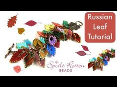 Learn how to make beautiful Russian Leaves with our step by step video tutorial. You will need two colours of Miyuki Seed Beads (we've used but this pa. Seed Bead Jewelry, Seed Beads, Beaded Jewelry, Jewellery, Beaded Earrings, Seed Bead Flowers, Beaded Flowers, Beading Projects, Beading Tutorials