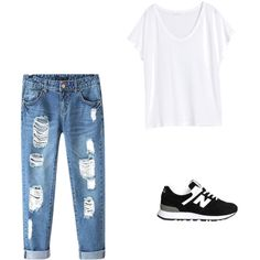 New balance by shaunamariewells on Polyvore featuring polyvore, fashion, style, H&M, Chicnova Fashion and New Balance