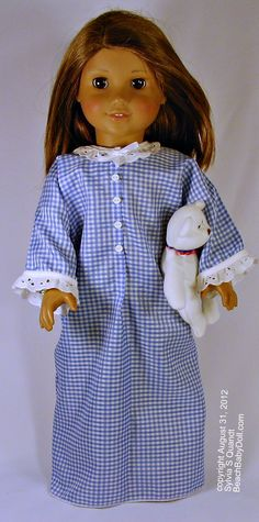 The Everything Doll Costume Pattern Nightie or Prairie Dress and much more. May be the last pattern you'll need. Easy!