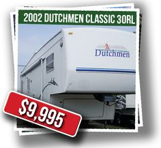 2002 Dutchmen Classic: This open concept used fifth wheel is clean, bright and very spacious!