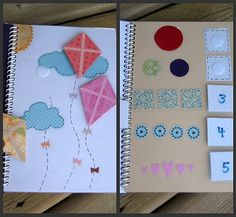 Paper Quiet Book. Love this idea, except wouldn't velcro be loud? Would magnets work instead?