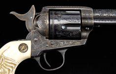 Cuno Helfricht engraved Colt army revolver