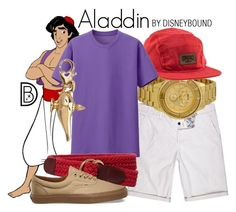 """Aladdin"" by leslieakay ❤ liked on Polyvore featuring River Island, Versus, Crooks & Castles, Uniqlo, Brooks Brothers, Vans, Disney, disney, disneybound and MensFashion"