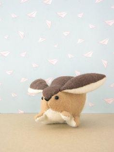 Bunny Buns Hand-sewn Stuffed Animal  Felt by MelissaBeePatterns