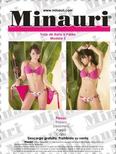 #TrajedeBaño Minauri (#Molde) #Descarga gratis en: www.minauri.com -----  Free pattern download ->>  www.minauri.com - Molde en descarga gratis