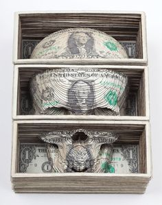 Scott Campbell's Skulls made of US Currency.