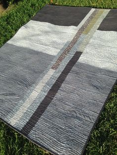 """Back of quilt... but awesome 47"""" x 59"""" Shimmer X Quilt from Better Off Thread"""