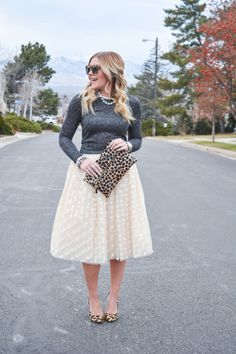 Abby Doll's feature of Dainty Jewell's Polka Dot Tutu in ivory.