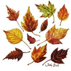 Maple Leaves Small Original Watercolor Painting Fall Leaves Drawing, Fall Leaves Tattoo, Winter Tattoo, Autumn Tattoo, Leaf Drawing, Watercolor Leaves, Watercolor Paintings, Tree Paintings, Watercolours