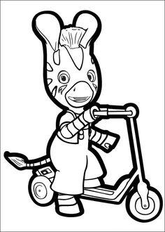 Zou-Zou Fargelegging for barn. Tegninger for utskrift og fargelegging nº 16