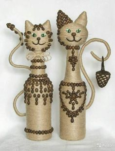 DIY GLASS BOTTLE HOME DECOR Long winter nights have ended. The best way to spend the long winter nights is to sip a nice red wine with classical music. Wine Bottle Art, Diy Bottle, Wine Bottle Crafts, Wine Craft, Jute Crafts, Diy And Crafts, Plastic Bottle Crafts, Plastic Bottles, Glass Bottles