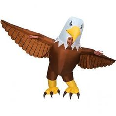 The Inflatable Bald Eagle Costume for adults includes an inflatable jumpsuit designed to look like a bald eagle. Soar into the costume party in all-American style in a bald eagle costume! Cat Costumes, Funny Halloween Costumes, Halloween Costumes For Kids, Adult Costumes, Inflatable Costumes, Giant Inflatable, Eagle Costume, Movie Character Costumes, Giant Eagle