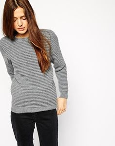 This wool jumper is amazing. I love the ripple stitch details and the fit is spot on. Would look cool with a white shirt underneath for work, too. Find it here: http://asos.do/Dymwes