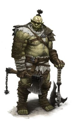 Orc warrior by dimelife.deviantart.com on @deviantART