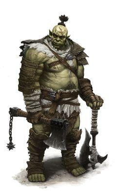 Orc warrior by dimelife.deviantart.com on @deviantART