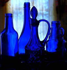 verre bleu marocain