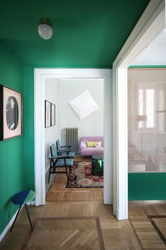 Relationship with nature and memories of space were the driving concepts behind this whimsical Milan apartment renovation by Marcante-Testa. Design Studio, Home Design, Deco Design, Milan Apartment, Home Interior, Interior Design, Sweet Home, Apartment Renovation, Elle Decor