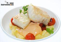 Bacalao con patatas y alioli de salmorreta
