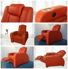 Reclining Movie Theater Sofa with Adjustable Headrest