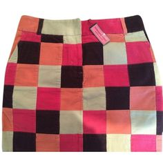 Pre-owned Vineyard Vines Corduroy Patchwork Skirt ($60) ❤ liked on Polyvore