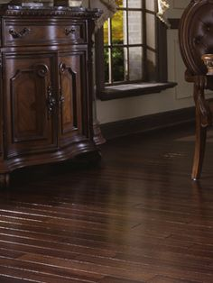 Bamboo floor. I want exactly THIS in my next house.