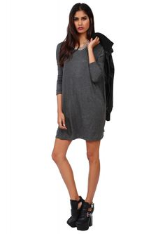 The Necessary Basic Dress in Charcoal | Necessary Clothing