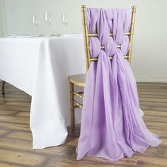Swivel Armchairs For Living Room Wedding Chair Sashes, Wedding Sash, Wedding Chairs, Party Chairs, Lounge Chairs, New Disney Princesses, Chair Covers, Chiffon Fabric, Violet