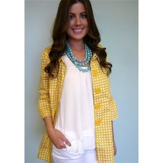 Hello Sunshine!  LOVE, LOVE this jacket.  Perfect for cool spring days