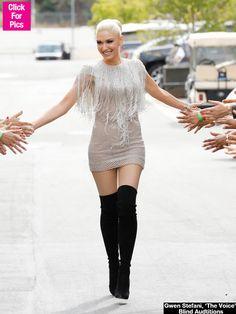 Gwen Stefani fantastical dress.