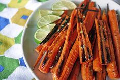 Cumin Lime Roasted Carrots by onehungrymama: You can puree these for baby!  #Carrots #Lime #onehungrymama