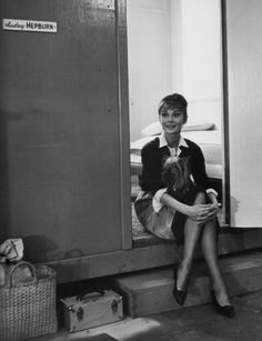 Audrey Hepburn on the set of The Childrens Hour, 1960.
