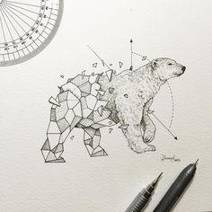 Polar Bear   Geometric Beasts   Kerby Rosanes