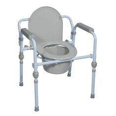 Portable Folding Bedside Medical Toilet Seat Commode Bucket Splash Guard Safety #DriveMedical