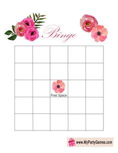 Floral Bridal Shower Gift Bingo Card
