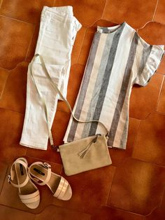 H&M white jeans  Mtng sandals
