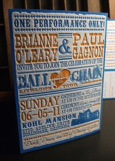 Vintage poster wedding invites - Ok, I said it weeks ago, but today IS the day. Ordering invites. FINALLY.