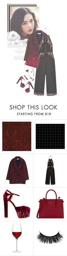 """""""Red wine"""" by glitterlovergurl ❤ liked on Polyvore featuring Andrew Martin, Zimmermann, Elie Saab, Furla, LSA International and Manic Panic NYC"""