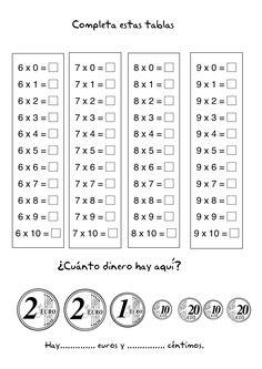 tarjetas de multiplicacion para imprimir - Buscar con Google