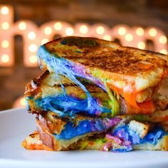 Seriously, what's up with the rainbow grilled cheese?