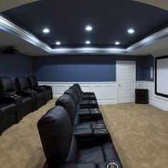 Mediterranean Home Theater by Sebring Services