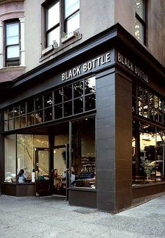 Facade inspo for an office redesign - Black Bottle Coffee shop