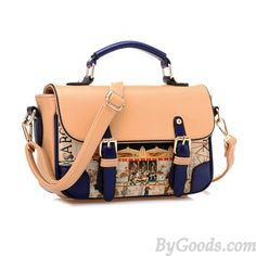 8574625888 Elegant Contrast Color Graffiti Shoulder Bag   Handbags only  34.9