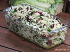 Raw Food Recipes, Sweet Recipes, Salad Recipes, Cooking Recipes, Vegetable Salad, Vegetable Recipes, Polish Recipes, Dinner Salads, Side Salad
