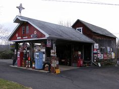 Old gas station in Pa. I would so like to get my gas here! What a step back in time. LOVE IT!