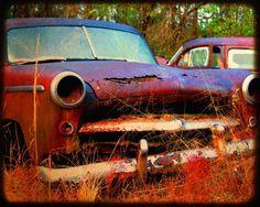 Miss Christine - Rusty Car - Fine Art Photograph by Kelly Warren