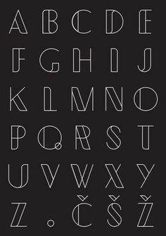 Typometry geometrical free font, display font type, line art font abc alpha Pretty Fonts Alphabet, Hand Lettering Alphabet, Calligraphy Letters, Alphabet Fonts, Alphabet Design, Bullet Journal Banner, Bullet Journal Writing, Bullet Journal Ideas Pages, Lettering Styles